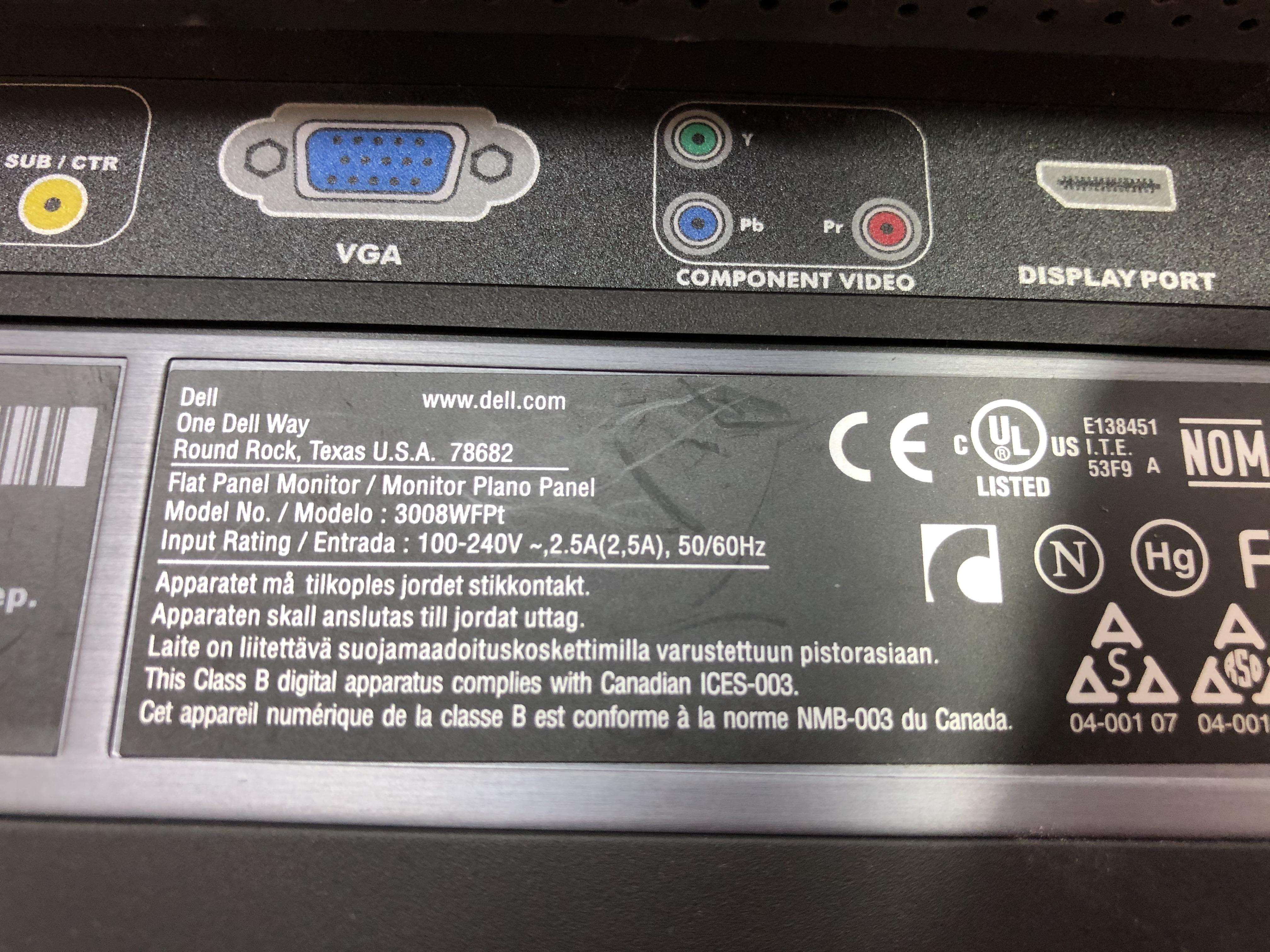 Dell 3008WFPt No 6