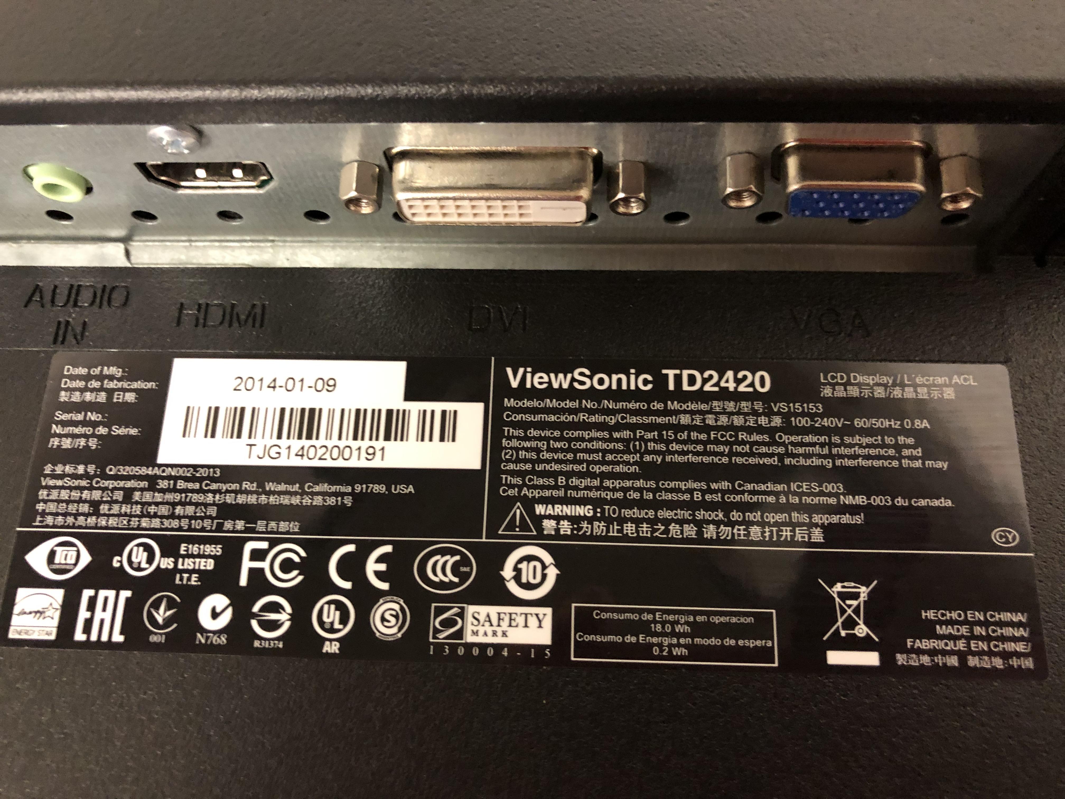 Viewsonic TD2420 No 6