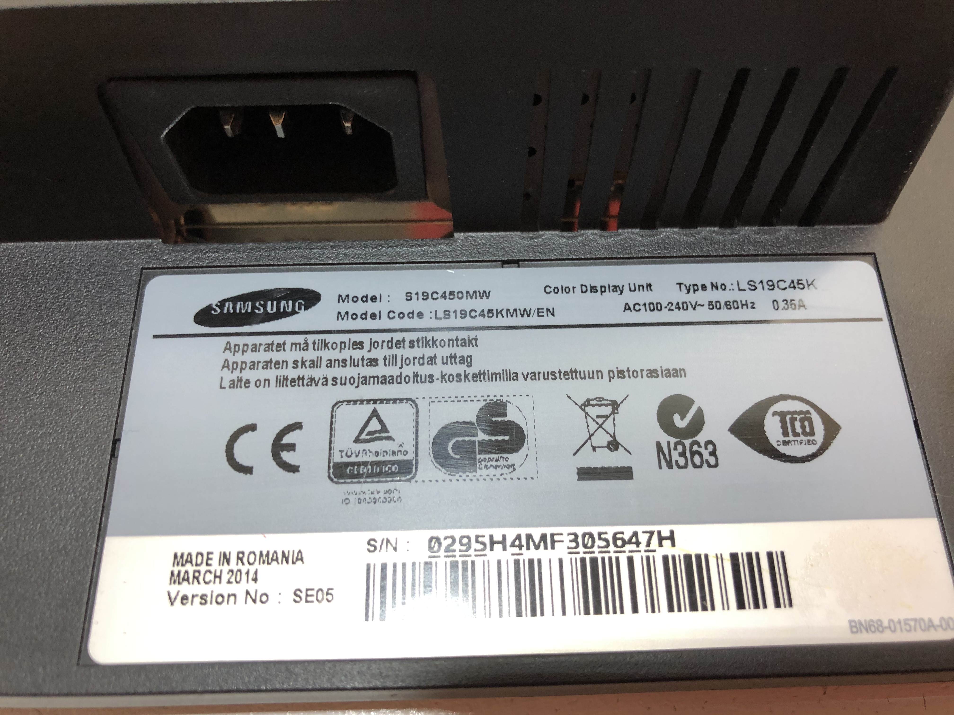 Samsung S19C450MW No 6