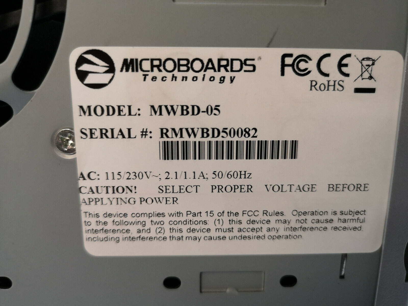 MicroBoards MWBD-05